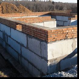 Готовий фундамент з фундаментних блоків ФБС-40