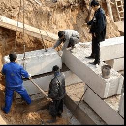 Славута БЕТОН - встановлення фундаментних блоків ФБС50